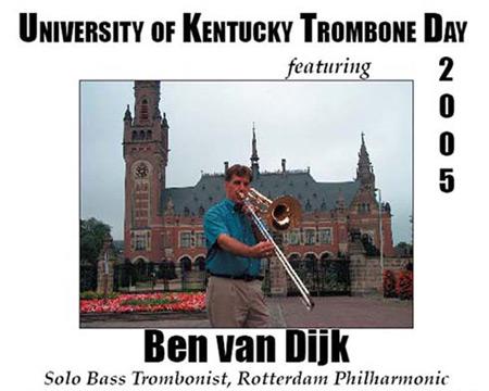 Kentucky Trombone Day - 2005 - Ben on Tour